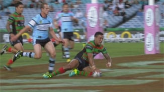 Rd2: Rabbitohs v Sharks (Hls)