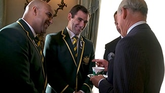 Smith starstruck by Prince Charles