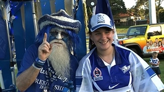 Bulldogs fans celebrate Christmas