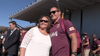Maroons spread cheer in Longreach