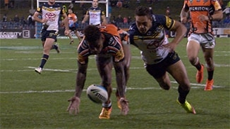 Rd 11: Wests Tigers v Cowboys (Hls)